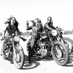 Chick riders, nothing like the road ahead and the wind in your hair!