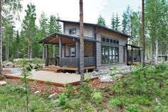 Winterhaus Modell Pyry von Kontio : Skandinavische Häuser von Woody-Holzhaus - Kontio