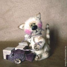 Котик Марти и его Рыбка - белый,кот,котик,котенок,кот тедди,тедди,друзья тедди