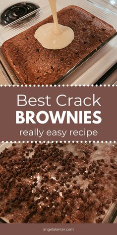 Brownie Desserts, Köstliche Desserts, Holiday Desserts, Delicious Desserts, Dessert Recipes, Yummy Food, Southern Desserts, Sweet Desserts, Dessert Bars