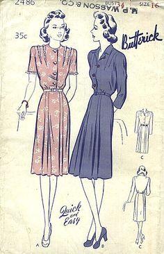 Best Vintage Patterns - Vintage Patterns 1940s