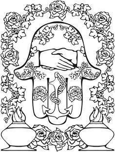 Hamsa Designs Coloring Book Colouring For Adults