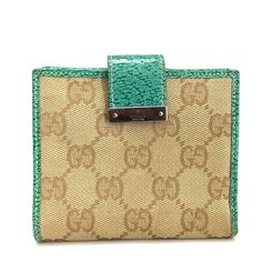 e4a4efea2bd Authentic GUCCI GG Logo Pattern Beige Canvas Leather Bifold Wallet  ee261   fashion  clothing