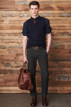 Dark tones - look great with folded sleeves of this Egyptian cotton, black shirt