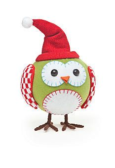 Home Accents® Santa's Helper's Owl Table Figurines