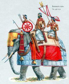 Elefante de guerra hindú. Más en www.elgrancapitan.org/foro