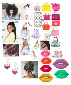 """""""💗❤️💛💚💜"""" by lelaariana99 on Polyvore featuring Sophia Webster, Yves Saint Laurent, Ted Baker, Furla, Kate Spade, Victoria Beckham, Catherine Catherine Malandrino, Betsey Johnson, Christian Louboutin and Lime Crime"""