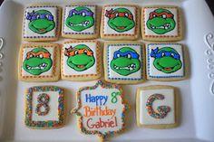 Teenage mutant ninja turtle cookies via Cupcake Adventures