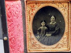 1 6 Plate Fine Clear Ambrotype of A Mother and Daughter | eBay