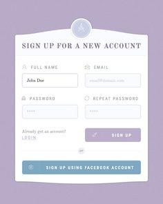 Classy Register Form PSD Template UI