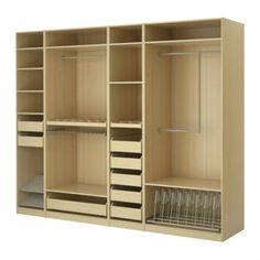 Armario de melamina, woodn closet, muebles de dormitorio-Armarios ...
