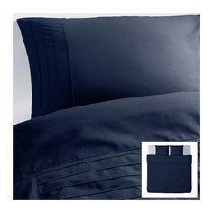ALVINE STRÅ Capa de edredão e 2 fronhas Azul - 240x220/50x60 cm  - IKEA