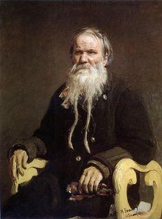 Ilya Repin Portrait of Folk Story-teller V.P. Schegolenkov, 1879