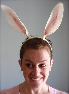 No Sew Felt Bunny (Olivia the pig) Ears