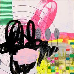 Jennifer Sanchez – Textile Paintings | purple woods