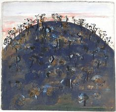 Hillock, by Fred Williams :: The Collection :: Art Gallery NSW Abstract Landscape Painting, Landscape Paintings, Landscapes, Fred Williams, Arches Paper, Watercolor Sunflower, Australian Artists, Cool Artwork, Artist At Work