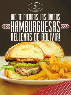 Las únicas hamburguesas rellenas de Bolivia están esperando por ti, ellas quieren deleitarte y  complacer cada uno de tus gustos. Si eres amante de la buena música y de las grandes comidas, pues has encontrado tu sitio ideal ¡Deja que la buena vibra de Ají Seco se haga sentir!