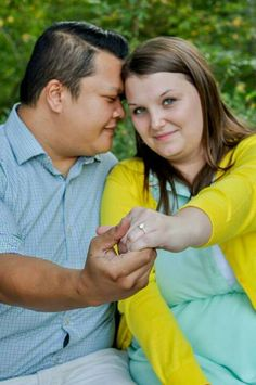 Engagement pictures photos session plus size park bench ideas poses ring shot