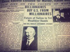 This is a 1927 News Article showing America was sold to five Billionaires . The Rothschild's, Rockefellers , DuPont's, Harriman's and Warburg's.
