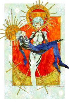 Rei and Kaworu by mediaviolence on DeviantArt