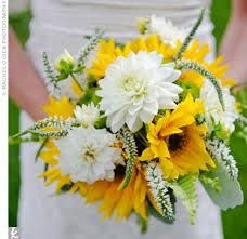 evergreen and sunflower in bouquets - Google Search