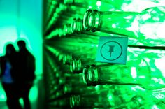 Heineken bottle wall - Fuorisalone - Milan