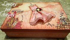 Decoupage Vintage, Decoupage Box, Lace Painting, Painting On Wood, Altered Boxes, Altered Art, Painted Boxes, Hand Painted, Arte Country