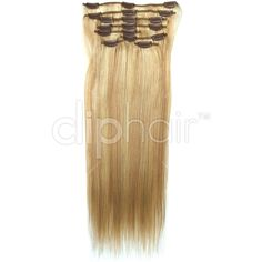 20 Inch Full Head Set Clip In Hair Extensions - Blonde Mix (#16/ #613)