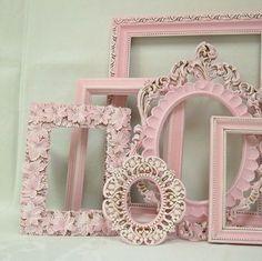 Shabby Chic Picture Frame Pastel Pink Picture Frame Set Ornate Frames Wedding Nursery Shabby Chic Home Decor. $109.00, via Etsy. by carlani #shabbychicdecornursery