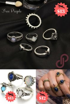 Save up to 70% on Free People stacked ring sets now! Download Poshmark for free on the iTunes app store.