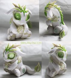 White And Green Baby Dragon With Ball by BittyBiteyOnes on DeviantArt