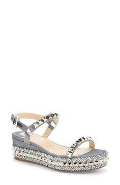 Christian Louboutin 'Cataclou' Platform Sandal available at Christian Shoes, Cheap Christian Louboutin, Crazy Shoes, Me Too Shoes, Louboutin High Heels, Stylish Sandals, Only Shoes, Shoe Art, Designer Heels