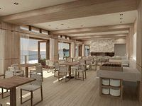 Love the clean palette of the new Malibu Cantina by Studio PCH. So beach chic!