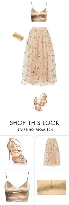 """""""Gold"""" by divacrafts ❤ liked on Polyvore featuring Christian Louboutin, Valentino, Nina Ricci and Original"""