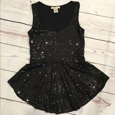 Arden B. Sequin Peplum Top Arden B. Sequin Peplum Top, size small. Worn once and in excellent condition. Perfect party top! Thank you for asking all questions before purchasing  Arden B Tops Tank Tops
