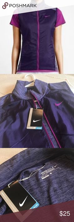 Nike golf tour performance vest women's size S Dri-FIT fabric to wick away sweat and help keep you dry and comfortable. Mock neck that zips up to the chin for warmth Contoured seams and stretch fabric for natural range of motion. Great for running or any outdoor activity.  Style 640403 Nike Jackets & Coats Vests