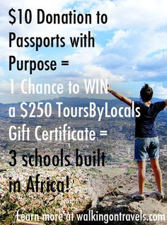 Donate $10 to help build schools in Africa for a chance to win a one of many seriously cool prizes. I love the idea of doing this for someone whom you'd normally spend $10 on and then letting them know you entered them for one of the drawings.