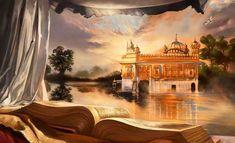 Kanwar Singh/Art of Punjab 'Sri Guru Granth Sahib ji' Guru Granth Sahib Quotes, Shri Guru Granth Sahib, Guru Nanak Ji, Nanak Dev Ji, Golden Temple Wallpaper, Guru Tegh Bahadur, Guru Nanak Wallpaper, Guru Nanak Jayanti, Golden Temple Amritsar