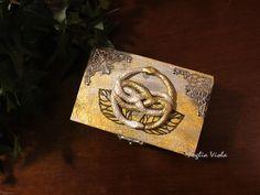 The neverending story auryn box snake ouroboros by FogliaViola