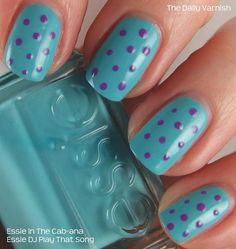 Nail Art Summer Polka Dots