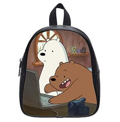 ef8dfb965b25 Custom Cartoon We Bare Bears Backpack Kids School Backpack Bag Small     You  can get additional details at the image link.