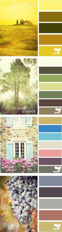 Una hermosa paleta de colores naturales...como el Chlorophyl Project ;)