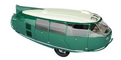 This is the Dymaxion Car, a Buckmister Fuller design from the 30's.