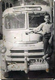 Enver Peksoy'a ait Kadıköy - İçerenköy minibüsü - 1948 Erdinç Bıcırdı aile albümünden #istanlook