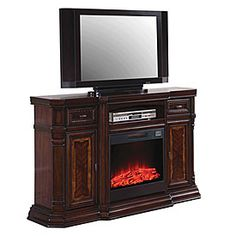 """62"""" Grand White Electric Fireplace Big Lots"""