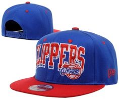 Casquette NBA Los Angeles Clippers Snapback Bleu Rouge Casquette New Era Pas Cher
