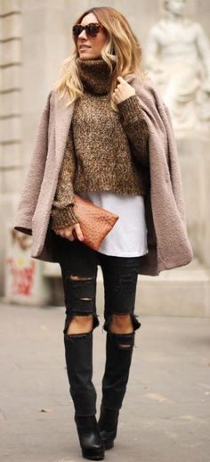 #winter #fashion / layers