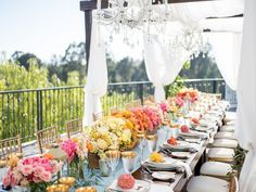 Line your reception tables with low centerpieces featuring flowers in an ombré pattern. Mod Wedding, Wedding Day, Floral Wedding, Yellow Wedding, Dream Wedding, Lemon Bridesmaid Dresses, Wedding Centerpieces, Wedding Decorations, Exotic Wedding