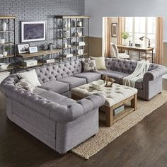Three Posts Gowans Sectional Upholstery: Gray