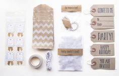 Party Goodiebag | Kraft | ♥ THEMA: it's Party time! | Dreamkey Design